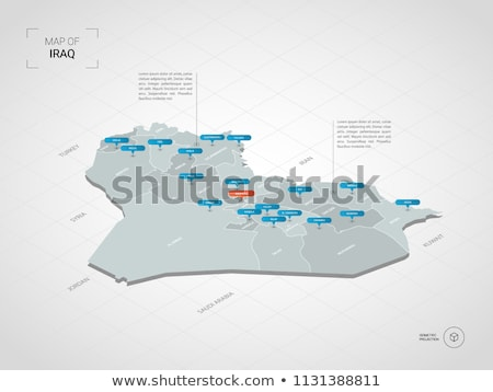 Irak harita idari şehir Asya Stok fotoğraf © Volina