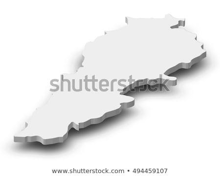 Colorful Lebanon map Stock photo © Volina