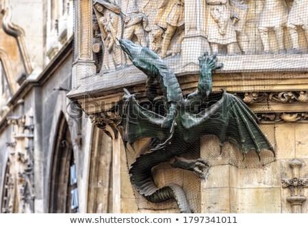 Monachium gothic miasta sali fasada szczegóły Zdjęcia stock © Bertl123