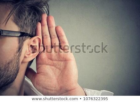 Nosy man listening secretly Stock photo © ichiosea