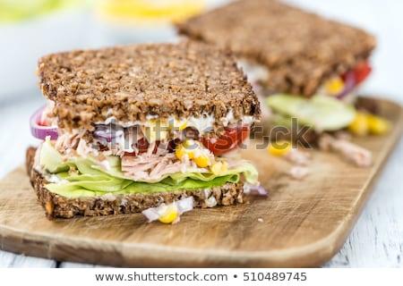 vegetariano · sándwich · carne · pollo · Turquía · tofu - foto stock © natika