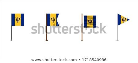 Barbados pequeno bandeira mapa foco fundo Foto stock © tashatuvango