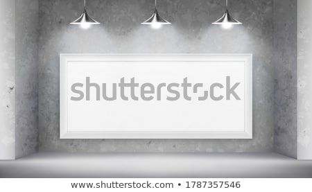Square Paintings hanging on the art gallery wall Stock photo © stevanovicigor