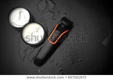 férfi · fürdőszoba · portré · mosolyog · férfi · egészséges - stock fotó © monkey_business