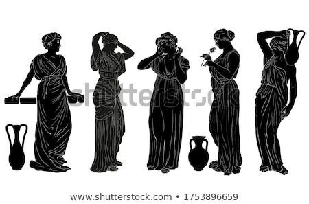 Ancient greek style woman in white tunic  Stock photo © Nejron