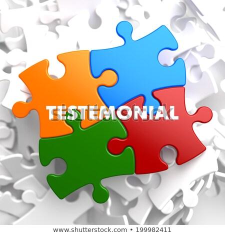 testimonial on multicolor puzzle stock photo © tashatuvango