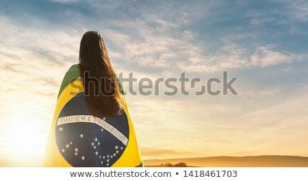 Бразилия · Футбол · иллюстрация · лес · Мир · футбола - Сток-фото © adrenalina