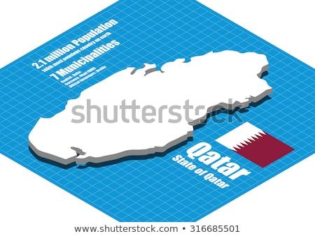 Map Of Qatar 3d Shape Stock photo © NiroDesign