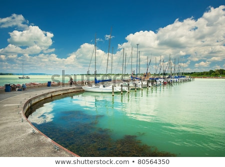 Lake Balaton in Hungary with nice clouds in summer  Stock photo © digoarpi