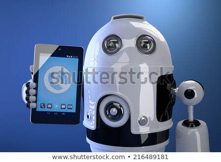 Foto stock: Robô · tecnologia · 3D · negócio