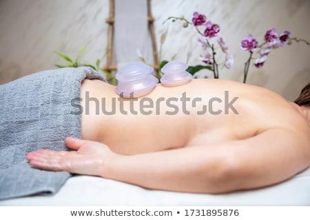 corps · douleur · chiffre · homme · Retour - photo stock © ewastudio