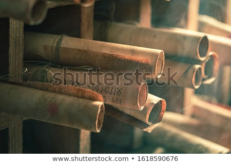 中世 スクロール 実例 デザイン 赤 金 ストックフォト © lenm