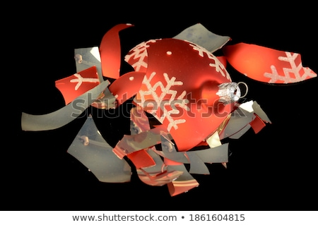 Christmas tree and broken glass bauble Stock photo © kaczor58