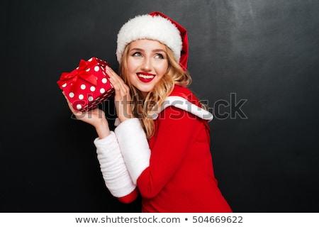 retrato · natal · decoração · isolado · branco - foto stock © Elisanth