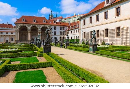 プラハ · 城 · 庭園 · 写真 · 細部 · 家 - ストックフォト © Dermot68