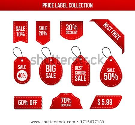 Set rosso sconto prezzo etichette carta Foto d'archivio © vadimone