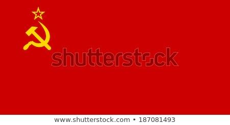 Vlag sovjet- unie paal wind Stockfoto © creisinger