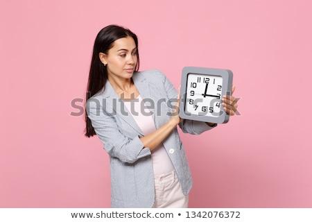 Beautiful and attractive female woman posing in pink lingerie on Stock photo © bartekwardziak
