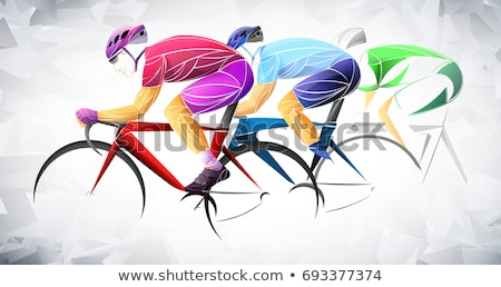 Stock photo: Cycling Design, dark Background