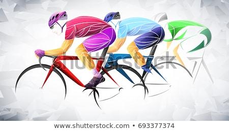 cycling design dark background stock photo © jackybrown