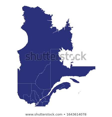 Harita Quebec siyah vektör Kanada yalıtılmış Stok fotoğraf © rbiedermann