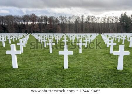 Lüksemburg amerikan mezarlık savaş yönetim Bina Stok fotoğraf © smartin69