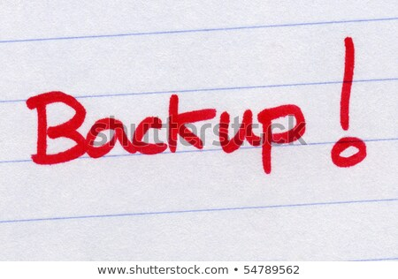 Backup, written in red ink. Stock photo © latent