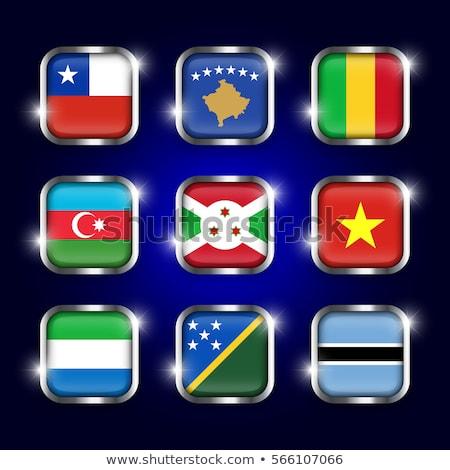 Vierkante metaal knop vlag Azerbeidzjan geïsoleerd Stockfoto © MikhailMishchenko