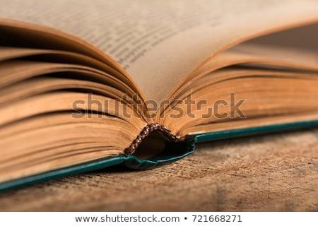 öreg rongyos könyv fehér textúra könyvtár Stock fotó © Valeriy