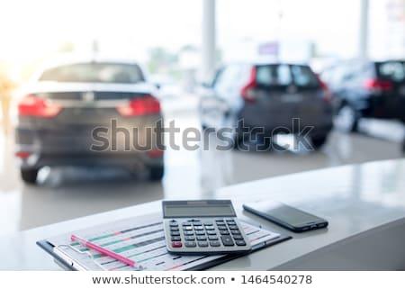 Autó finanszírozás autó jármű dollár valuta Stock fotó © Dxinerz