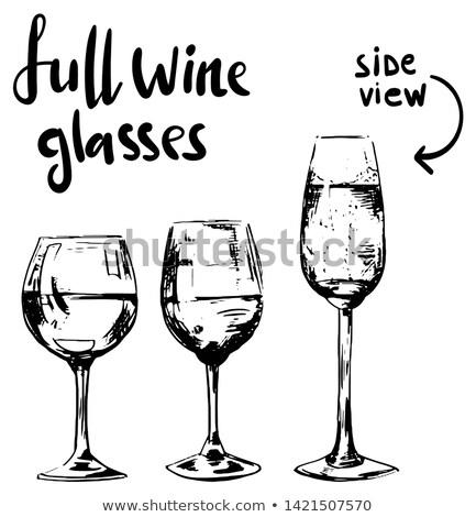 Verre de vin vide décoratif vin isolé Photo stock © vtls