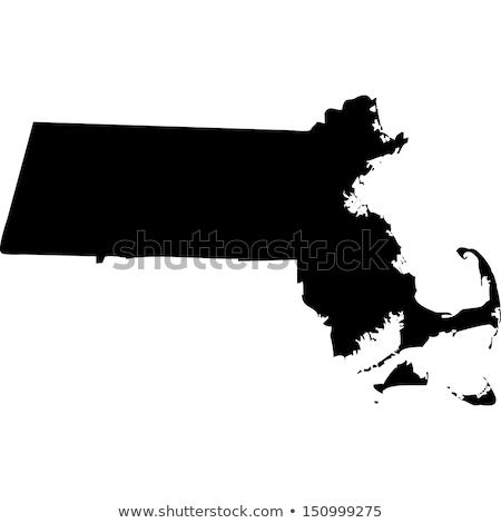 Map of Massachusetts with icons Stock photo © retrostar