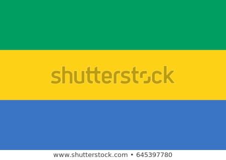 Gabão bandeira web design estilo mapa botão Foto stock © speedfighter