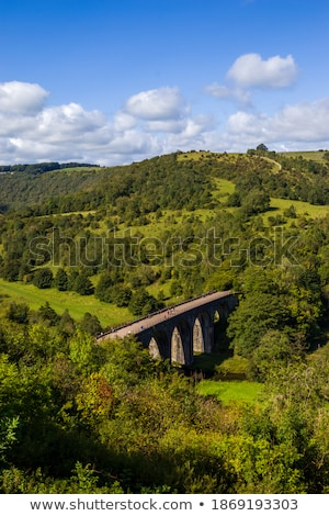 Old bridge viaduct with footpath Stock photo © artush