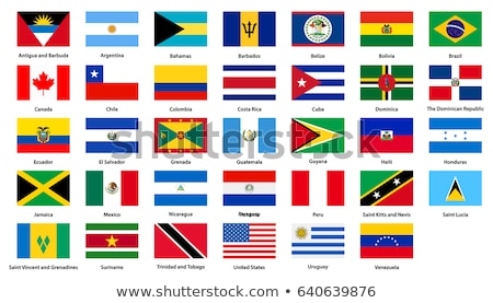 Бразилия Барбадос флагами головоломки изолированный белый Сток-фото © Istanbul2009