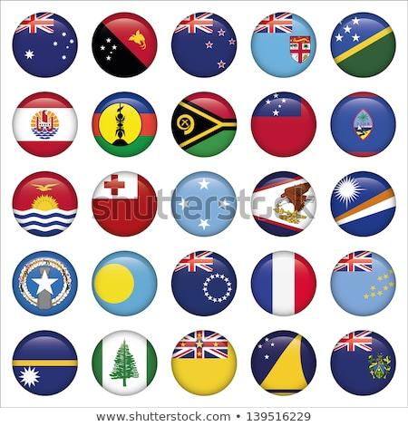 ícone bandeira Micronésia assinar branco Foto stock © MikhailMishchenko