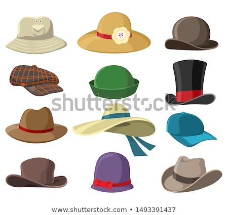 fedora · quatre · chapeau · illustrations · isolé - photo stock © slobelix