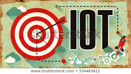 IOT Concept. Grunge Poster in Flat Design.  Stock photo © tashatuvango
