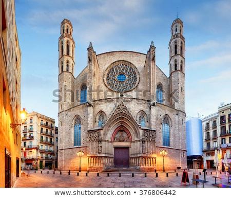 Basilica de Santa Maria del Mar. Barcelona, Spain. Stock photo © Photooiasson