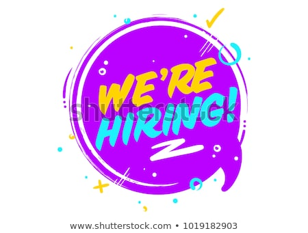 Job Offer Violet Vector Icon Design Stock photo © rizwanali3d