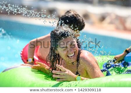 játszótér · sóder · nedves · gyerekek · absztrakt · háttér - stock fotó © paha_l