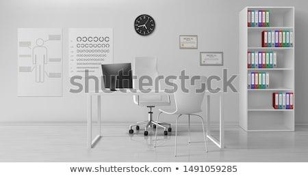realistic illustration office armchair stock photo © smeagorl