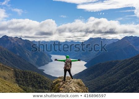 woman hiker at Kepler track Stock photo © lostation