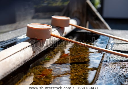 Water Ladle At Shinto Shrine Stock photo © searagen