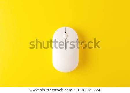 Draadloze muis laptop witte computer Stockfoto © dmitroza