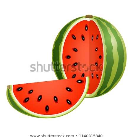 watermelon cross section slice stock photo © stevanovicigor