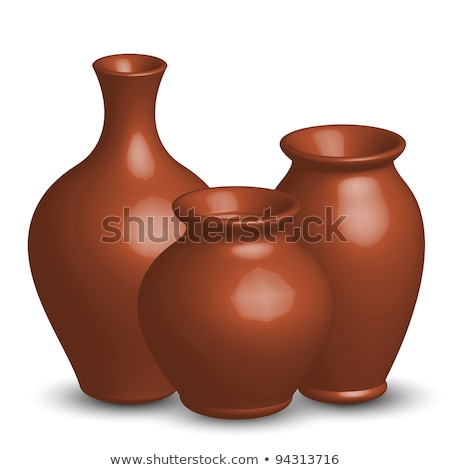 three clay pots stock photo © karandaev