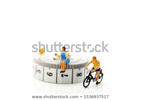 bike races on small tape measure Stock photo © compuinfoto