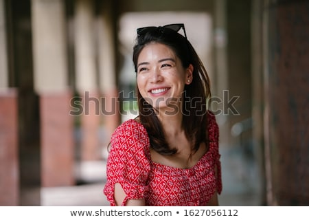 Happy smiling Chinese woman stock photo © elwynn