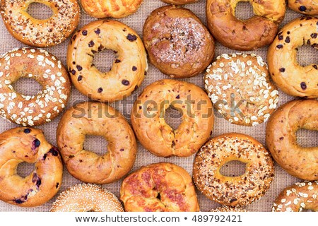 Assorted bagels in a full frame background Stock photo © ozgur